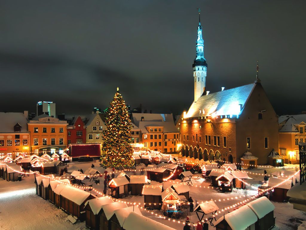 Mercatini di Natale, Town Hall Square, Tallinn, Estonia