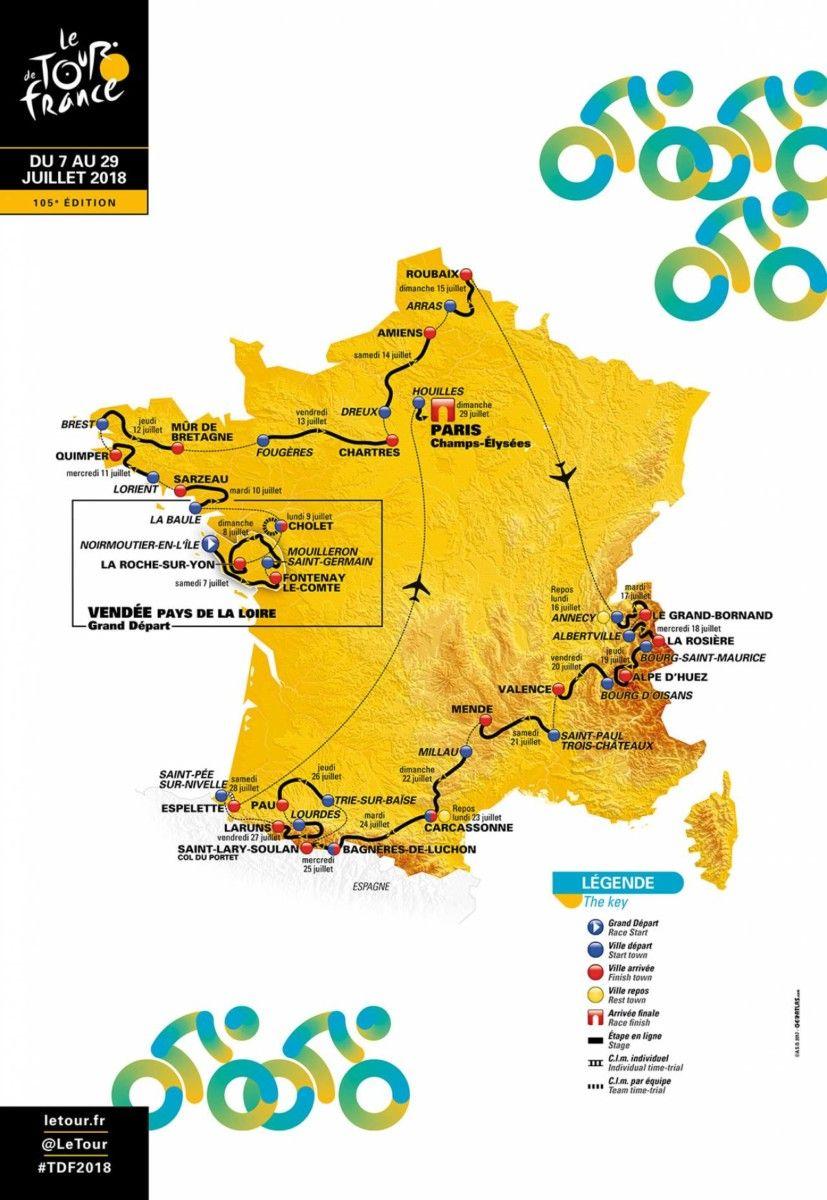 Parcours Tour de France 2018 HomeExchange